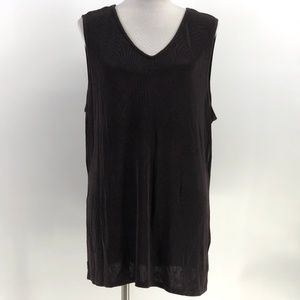 Coldwater creek brown tank top stretchy size XL